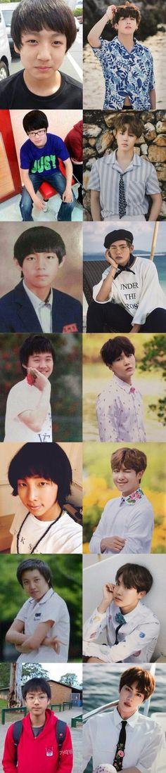 Ojala la pubertad me hubiera hecho un cambio así de hermosos como a ellos ;-;