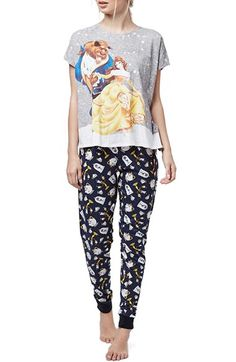 Topshop 'Beauty and the Beast' Pajamas available at #Nordstrom