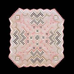 Roseton is an elegant doily bringing to mind dreamy thoughts of luscious rose petals scattered in the spring breeze!