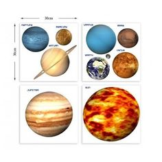 Science Museum Planet Wall Stickers ($34) ❤ liked on Polyvore featuring home and home decor
