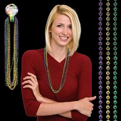 """Opulent Promotional Items Company from Brooklyn NY USA Get a promotional tool that can be used for all of your advertising events like the Round Bead Mardi Gras Necklace! From Mardi Gras to Spirit Night, this 33"""" (7 mm) round bead necklace is great for any occasion. The affordably priced beaded necklace comes in assorted bead colors and is sold in increments of 12 pieces. There is a choking hazard, so this product is not for children under three years old. Dress up your marketing pla..."""