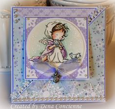 Dena Concienne: Dena's Stamping Corner: A Time To Care - 8/8/14 (LOTV: A Time to Care) (Triangle fold card)