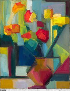 """Lena Levin - Flowers """"after Piet Mondrian"""""""