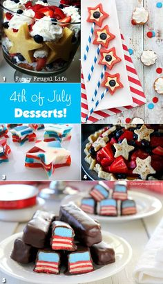 Planning a 4th of July party? Some yummy dessert ideas here!