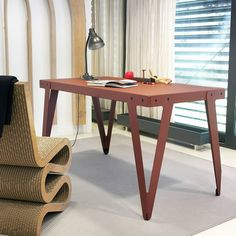The Lloyd Table is designed by Serener and is part of the Lloyd series. Christoph Seyferth originally designed the Lloyd series for the legendary Lloyd Hotel & Cultural Embassy in Amsterdam, where the Lloyd furniture can be found in the guest rooms, common spaces, and the in-house restaurant.