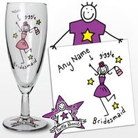 Personalised Purple Ronnie Wedding Bridesmaid Flute from Experience Frenzy