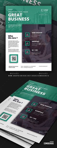 Business Corporate Flyer Templates If you like this design. Check others on my CV template board :) Thanks for sharing! Brochure Indesign, Template Brochure, Business Flyer Templates, Flyer Design Templates, Cv Template, Business Web Design, Corporate Event Design, Corporate Flyer, Corporate Business