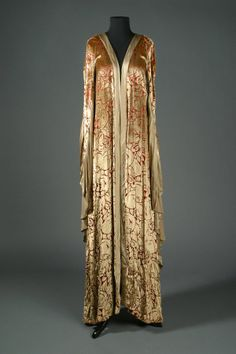 """Gold Cape Dressing Robe by Bob Mackie for Barbra Streisand in """"Funny Lady"""",1975"""