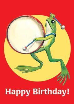 Frog Playing Big Drum