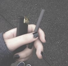 black, cigarette, and smoke image
