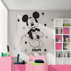 Disney Mickey Mouse Personalised Wall Sticker Art Decal Mural Vinyl Kids JRD-1
