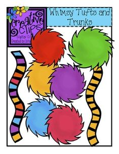 FREE CLIPART! This bundle of tufts and trunks is free in my TpT store for personal or commercial use! Black lines included