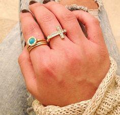 $14 Mini Cross Rings! <3