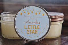 Baby Shower Favor / Twinkle Star Favor / 12 - 4 oz Sugar Scrub Favors / Boy Baby Shower / Girl Baby Shower /  Gold Baby Shower / Star Baby
