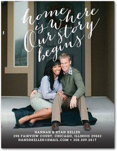Gorgeous Beginning - Moving Announcement Postcards - Baumbirdy - White | www.WeddingPaperDivas.com