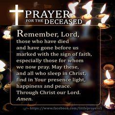 Prayer fir the deceased