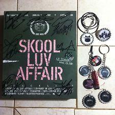 BTS Bangtan Boys AUTOGRAPHED Skool Luv Affair Album + gifts KPOP EXO/BAP/GOT7/GD