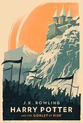 Harry-Potter-Buchcover im Vintage-Stil von Olly Moss ... - #buchcover #harry #potter #vintage - #DesignStuff
