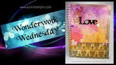 Love - Art Journal Page Process Art, Art Journal Pages, Love Art, Mesh