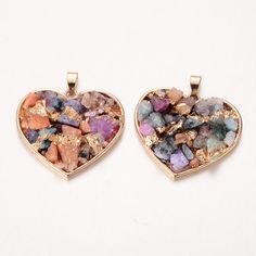 Dyed Natural Crystal Heart Pendants from Pandahall.com    #pandahall