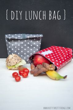 DIY Lunch Bags, the cutest way to set your lunch apart from everyone else! @{nifty thrifty things} #DIY #lunchtime