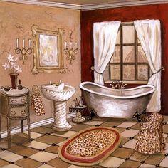 Gregory Gorham: Leopard Florentine Bath