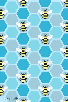 Bumblebee and blue honeycomb pattern | Me Before You Movie | In Theaters June 3