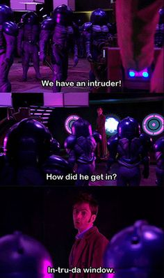 Doctor who reference in Doctor Who!! Twice in one episode! Way to go Doctor!!
