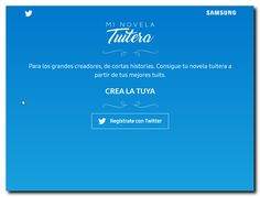 MI NOVELA TWITERA. Aplicación Web para crear un PDF con tus twitts mas relevantes. http://minovelatuitera.com/