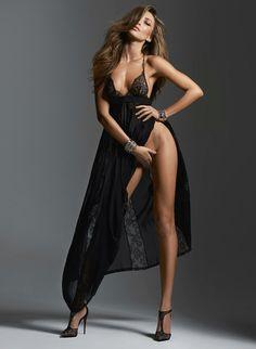 martysimone:La Perla gown | Louboutin lace heels | Photo Danny Cardozo | Model Simone Villas Boas