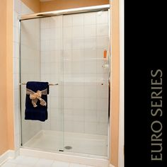 classic and clean euro style shower door what more could you ask