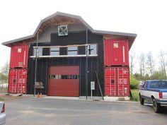 cargo container barn