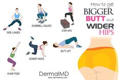 How to get a bigger butt and wider hips at home? Well heres your answer. We all know exercise is good for health but have you ever heard that exercise can help you to achieve a bigger butt with wider Fitness Workouts, Yoga Fitness, At Home Workouts, Shape Fitness, Yoga Routine, Exercise Routines, Bigger Hips Workout, Top Of Butt Workout, Workout Men