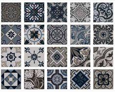 Carrelage sol et mur Imitation carreau ciment 22.5 x 22.5 Vintage marengo Palo Rosa