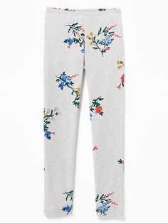 Old Navy Girls' Full-Length Built-In Tough Jersey Leggingss Gray Floral Print Size XS Toddler Boy Gifts, Baby Girl Gifts, Toddler Girl, Cute Little Girls Outfits, Cute Girls, Old Navy Girls, Shop Old Navy, Girls In Leggings, Floral Leggings