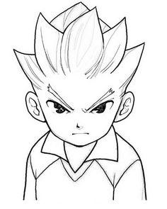 Inazuma Eleven Tegninger til Farvelægning. Printbare Farvelægning for børn. Tegninger til udskriv og farve nº 5