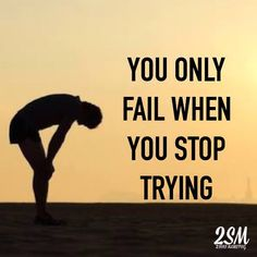 You only Fail when you Stop trying. Failure is not a reality until you accept it! With that being said Never Give Up and Never Stop trying if you really want something.  #NeverGiveUp  Digital & Social Media Marketing  for your Business. More Exposure More Leads  More Sales.  http://ift.tt/1xQNAed  info@2sonsmarketing.com 61 414 997 205  Sydney Australia  #LikesDontEqualSales  #SocialisHuman - Sergio Garcia #2SMTips #My2SM by 2sonsmarketing