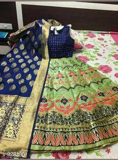 Lehengas Designer Banarasi Brocade Lehenga Fabric: Lehenga - Banarasi Brocade Blouse - Banarasi Brocade Dupatta - Banarasi Brocade Size: Lehenga (Waist Size) - Up To 40 in To 42 in ( Free Size ) Blouse (Bust Size)- Up To 36 in To 38 in ( Free Size ) Dupatta - 2.5 Mtr Flair - 3 Mtr Length: Lehenga - Up To  42 in Type: Lehenga - Semi Stitched Description: It Has 1 Piece Of Lehenga 1 Piece Of Padded Blouse & 1 Piece Of Dupatta   Work: Lehenga - Printed Blouse - Printed Dupatta - Printed Country of Origin: India Sizes Available: Un Stitched, Semi Stitched   Catalog Rating: ★4.4 (445)  Catalog Name: Free Mask Anshu Designer Banarasi Brocade Lehengas Vol 1 CatalogID_453510 C74-SC1005 Code: 4141-3281801-8493