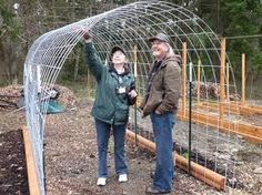 wire greenhouse frame