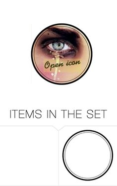 """Open icon"" by hellokitty0508 ❤ liked on Polyvore featuring art"