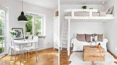 Smart enrummare med sovloft i Göteborg
