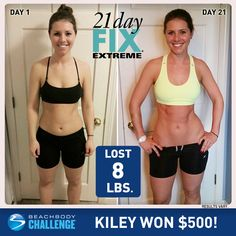 """""""I made a huge improvement with my body composition and started to get back to where I was before I got really sick, which I didn't think was possible."""" Kiley is the Beachbody Challenge $500 daily winner for Oct. 13th."""
