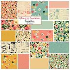 "Riley Blake FANCY & FABULOUS Stacker 10"" Precut Fabric Quilting Cotton Layer Cake 10-4840-18"