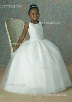 Ball Gown Floor-Length Satin Flower Girl Dress