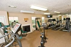 Fitness room at The Copper Hill Apartments in Bedford, TX