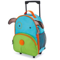 Little kids will love rolling through the airport or to Grandma's with their own Zoo luggage. Sized perfectly for carry-ons and overnight trips, Zoo luggage is Kids Rolling Luggage, Rolling Bag, Kids Luggage, Luggage Backpack, Dog Backpack, Toddler Backpack, Toddler Travel, Travel Luggage, Toddler Bag