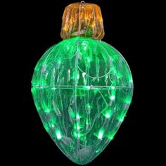 Starry Night Crystal Splendor Bulb Shape. Set the tone of your holiday decor. Give your yard or lawn an elegant touch with the sparkling ornament that twinkles like the night sky! Adds beauty to any decor. #lights #holidaydecor #Christmasdecor #green