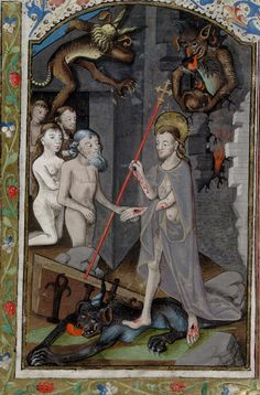 """deathandmysticism: """"Harrowing of Hell, Book of Hours, 15th century """""""