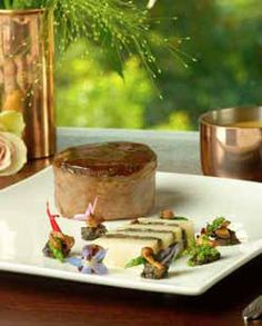 Beef Fillet Wrapped in Parma Ham with Potato and Mushroom Terrine Beef Fillet, Parma Ham, Panna Cotta, Mosaic, Stuffed Mushrooms, Potatoes, Ethnic Recipes, Food, Stuff Mushrooms