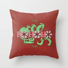 Christmas Ho-Ho-Ho Throw Pillow by Correen Silke - $20.00